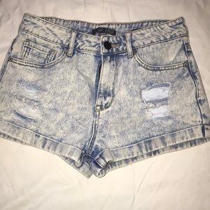 Kendall & Kylie high rise jean shorts